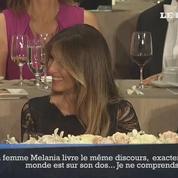 Trump ironise sur le plagiat du discours de Michelle Obama par sa femme