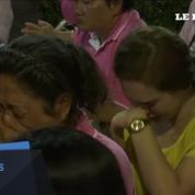 Les Thaïlandais fondent en larmes à l'annonce de la mort de leur roi