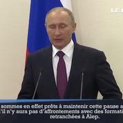 Poutine prêt à prolonger la trêve à Alep «autant que possible»