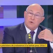 Michel Sapin avoue à demi-mot la prévision à la baisse de la croissance pour 2016