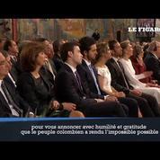 « La guerre touche enfin à son terme » : le président colombien reçoit le prix Nobel de la paix