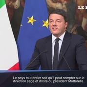 Matteo Renzi annonce sa démission après le rejet de sa réforme