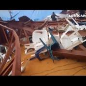 Nigéria : les images d'une église dévastée par l'effondrement du toit