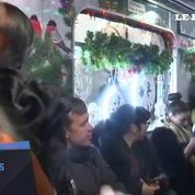 Le métro de Moscou s'illumine pour le nouvel an