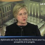 Hillary Clinton, défenseure de la diplomatie des Etats-Unis