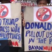 Philippines: rassemblement anti-Trump devant l'ambassade américaine de Manille