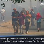 Chili : Incendie à Valparaiso, une centaine de maisons partent en fumée