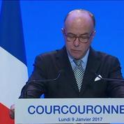 Bernard Cazeneuve chez Manuel Valls à Evry