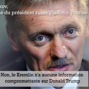 Le porte-parole de Poutine nie avoir des informations compromettantes sur Trump
