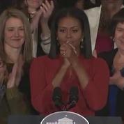 La vive émotion de Michelle Obama pour son dernier discours de Première dame