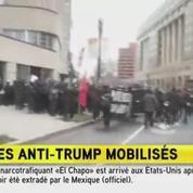 Des manifestations anti-Trump aux abords du Capitole à Washington