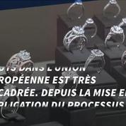 Des diamants bruts retrouvés... dans son caleçon