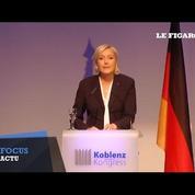 A Coblence, Marine Le Pen veut rassembler les eurosceptiques