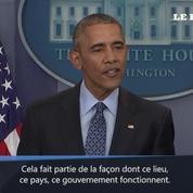 Obama à la presse :