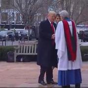 Donald Trump arrive à l'église pour le premier acte de sa journée d'investiture