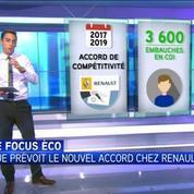 Le focus éco : que prévoit le nouvel accord chez Renault ?