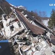 Les vestiges de l'hôtel enseveli par une avalanche en Italie vus du ciel