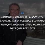Présidentielle: ce que Bayrou disait de Macron avant de se rallier à lui