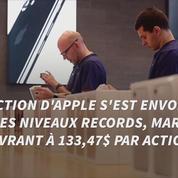 L'action Apple atteint un niveau record