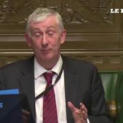 Quand l'hymne européen est entonné au parlement britannique, le président perd patience