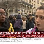 Des manifestations de lycéens éclatent à Paris en soutien à Théo : des jeunes témoignent