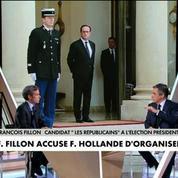 Fillon dénonce un scandale d'Etat, Hollande lui répond