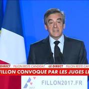 François Fillon maintient sa candidature malgré sa prochaine mise en examen