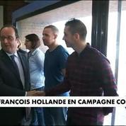 François Hollande en campagne contre le Front National
