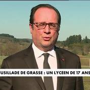 Grasse : Hollande justifie l'état d'urgence