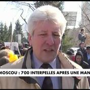 Manifestation à Moscou : près de 700 personnes interpellées