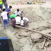 Pérou: une femme s'extirpe in extremis d'une coulée de boue