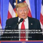 Une rare feuille d'impôt de Trump rendue publique