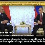 Vladimir Poutine s'exprime après l'explosion du métro de Saint-Pétersbourg