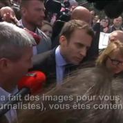 Whirlpool : Emmanuel Macron tacle Marine Le Pen à Amiens