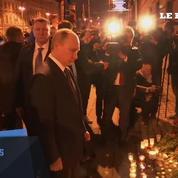 Poutine se rend sur les lieux de l'attentat de Saint-Pétersbourg