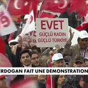 Turquie : Erdogan tient un meeting géant à Istanbul avant le référendum