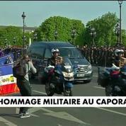 Hommage au caporal-chef Julien Barbé aux Invalides