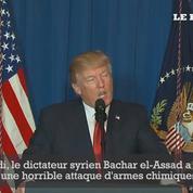 Trump appelle les «nations civilisées» à faire cesser le bain de sang en Syrie