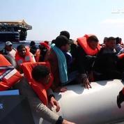Près de 1.350 migrants secourus au large de la Libye
