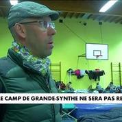 Grande-Synthe : première nuit en dehors du camp