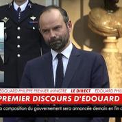 Edouard Philippe prononce son premier discours en tant que premier ministre