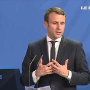 Pour sa première rencontre officielle avec Merkel, Macron veut renforcer le couple franco-allemand