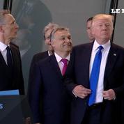 Quand Donald Trump pousse le premier ministre monténégrin pour être devant