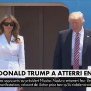 Donald Trump a atterri en Israël