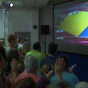 À Hénin-Beaumont, cris de joie à l'annonce des résultats FN au second tour des législatives