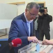 Législatives : le ministre Richard Ferrand a voté à Motreff