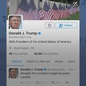 Aux États-Unis, une loi Covfefe a été déposée pour archiver les tweets de Trump