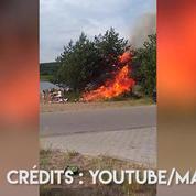 La propagation spectaculaire d'un incendie en moins de 40 secondes
