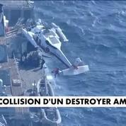Collision d'un destroyer américain : sept marins disparus
