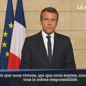 «Make our planet great again» : Macron interpelle Trump en anglais